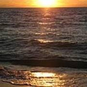 Golden Sunset At Destin Beach Art Print
