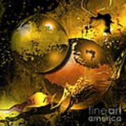 Golden Things Art Print by Franziskus Pfleghart