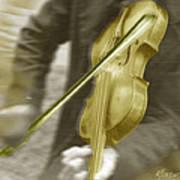 Golden Violin Art Print
