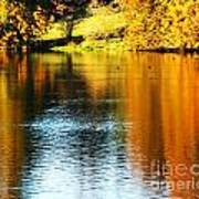 Golden Water Art Print