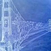 Golder Gate Bridge Inverted Art Print