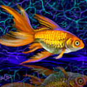 Goldfish Electric Art Print