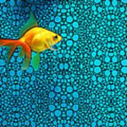 Goldfish Study 3 - Stone Rock'd Art By Sharon Cummings Art Print