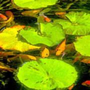 On Goldfish Pond Artwork Art Print
