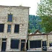 Goldrush Heritage Buildings In Dawson City Yukon Art Print