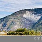 Goldrush Town Dawson City From Yukon River Canada Art Print