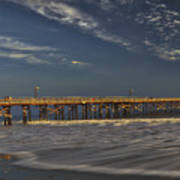 Goleta Beach And Pier Art Print