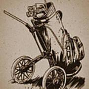 Golf Bag In The Grass  Art Print
