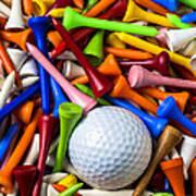 Golf Ball And Tees Art Print
