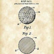 Golf Ball Patent 1906 - Parchment Art Print