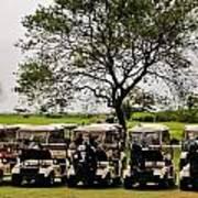 Golf Carts Art Print