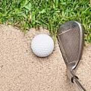 Golf Club And Ball Art Print