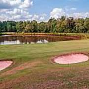 Golf Course Beautiful Landscape On Sunny Day Art Print