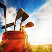 Golf Equipment  Art Print