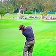 Golf Swing Drive Art Print