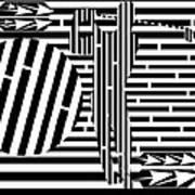 Golf Swing Maze  Art Print