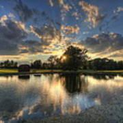 Golfcourse Sunset Art Print