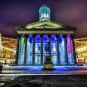 Goma Glasgow Lit Up Art Print by John Farnan