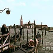 Gondola Dock Art Print
