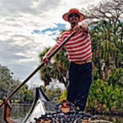 Gondola Ride In City Park New Orleans Art Print