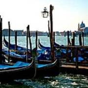 Gondolas At Rest Art Print