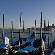 Gondolas In The Bacino Di San Marco Art Print