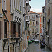 Gondolas On Backstreet Canal Art Print