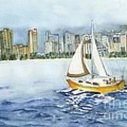 Gone Sailing Art Print
