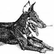 Good Dog Art Print by Michael Volpicelli
