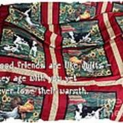 Good Friends Are Like Quilts Art Print