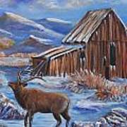 Good Morning Elk Art Print