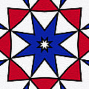 Good Old Red White And Blue 2 Art Print