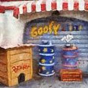 Goofy Water Disneyland Toontown Photo Art 02 Art Print
