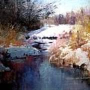 Goose Creek Winter Art Print