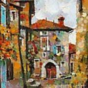 Gordes- Colorful Street Art Print
