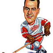 Gordie Howe Art Print by Art