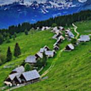 Goreljek Shepherding Village In Alpine Art Print