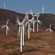 Gorge Windmills Art Print