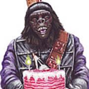 Gorilla Party Art Print