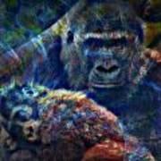 Gorillas In The Mist Art Print