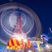 Gosford Ferris Wheel Art Print by Steve Caldwell