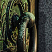 Goth - Crypt Door Knocker Art Print by Paul Ward