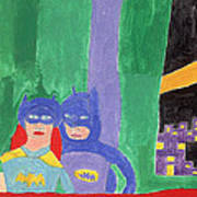 Gotham Heroes  Art Print