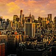 Gotham Sunset Art Print