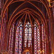 Gothic Architecture Inside Sainte Art Print