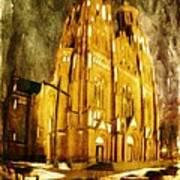 Gothic Cathedral Art Print by Jaroslaw Grudzinski