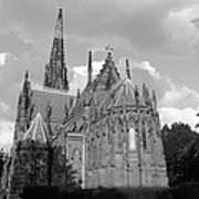 Gothic Church In Black And White Art Print