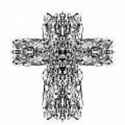 Gothic Cross Art Print