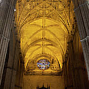Gothic Vault Of The Seville Cathedral Art Print