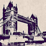 Gothic Victorian Tower Bridge - London Art Print